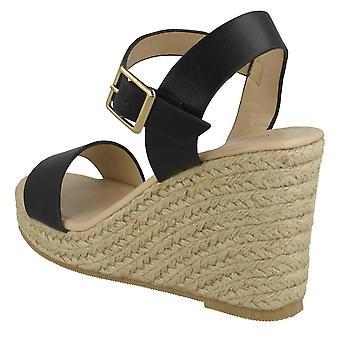 Savannah mujeres/señoras Savannah alta cuerda cuña sandalias