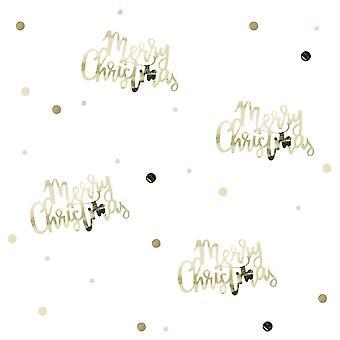 Gold script Merry Christmas Table confetti-14g-gouden kerst tafel Deocoration Xmas