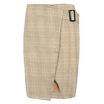 Women's skirt plaid knee length Midi Pencil Skirt Stretch Glencheck Pattern
