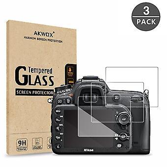 (Förpackning med 3) härdat glas skärmskydd för Nikon d7100 d7200 d800 d800e d810 d750 d600 d610 d50