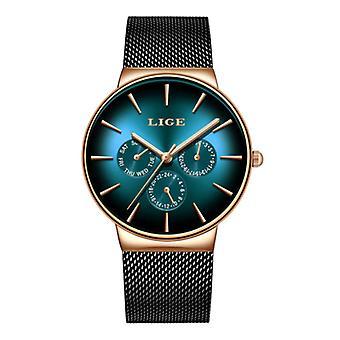 Lige Luxury Watch Men - Anologue Quartz Movement for Men Green