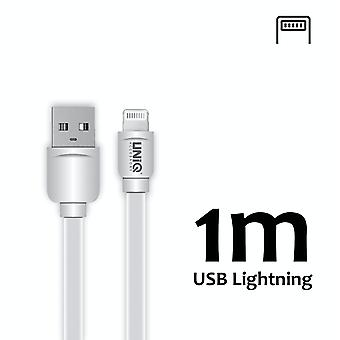 Lightning Cable - 1 Meter White - Fast Charging/Data Transfer 2.1A - Uniq Accessory