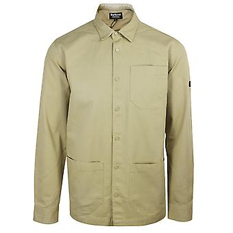 Barbour international men's washed stone worker overshirt