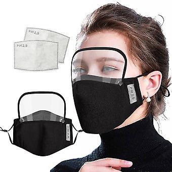 أحادية الجنس القطن قابلة لإعادة الاستخدام، قابل للغسل، وعاصف، الغبار واقية من التنفس وجه الكبار