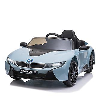 HOMCOM Compatible Electric Kids Ride On Car 6V Battery Powered Toy with Remote Control Music Horn Lights MP3 Suspension Wheels for 3 - 8 Years Blue BMW I8 Coupe