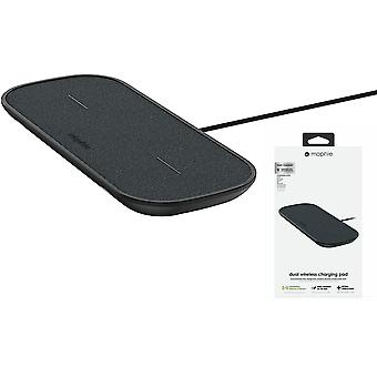 Mophie  Dual Wireless Charging Pad with UK Plug Adapter - Black - 409903634
