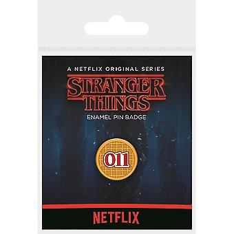 Stranger Things Eggo Enamel Badge