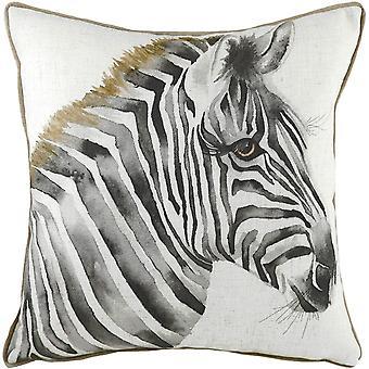 Evans Lichfield Safari Zebra Cushion Cover