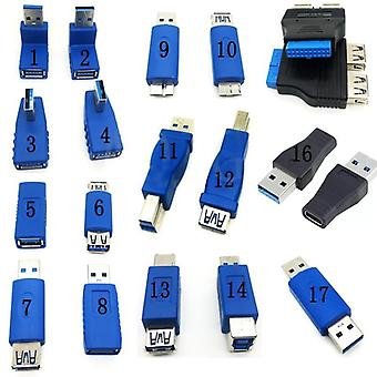 Usb3.0  Type A To B / Micro / Mini / Male To Female Adapters
