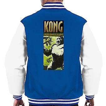 King Kong siendo enjaulado por Biplanes La 8a Maravilla del Mundo Hombres's Chaqueta Varsity