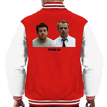 Shaun of the Dead Shaun And Ed In Shock Men's Varsity Jacket