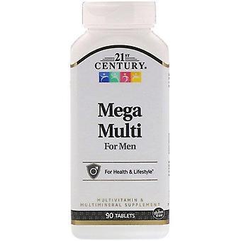 Siglo 21, Mega Multi para Hombres, Multivitamínico y Multimineral, 90 Tabletas