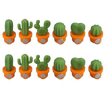 Cactus Magnetic Réfrigérateur Aimants Kitchen Office Orange Ensemble de 12