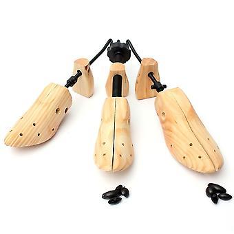1pcs Shoe Stretcher Wooden Tree Shaper Rack, Adjustable Flats Pumps Boots