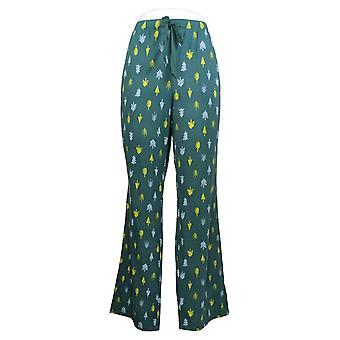 Alle kvinner's pyjamas bukser børstet Jersey Print Baby Bell Grønn A386829