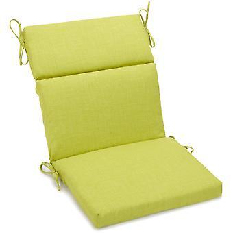Coussin de chaise carrée extérieure en polyester de 22 pouces par 45 pouces - Lime