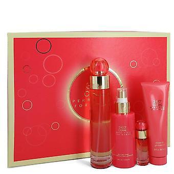Perry Ellis 360 Coral Gift Set By Perry Ellis 3.4 oz Eau De Parfum Spray + .25 oz Mini EDP Spray  + 4 oz Body Mist Spray + 3 oz Shower Gel