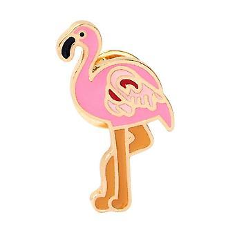 Emalitappi, 2,5 cm - Flamingo