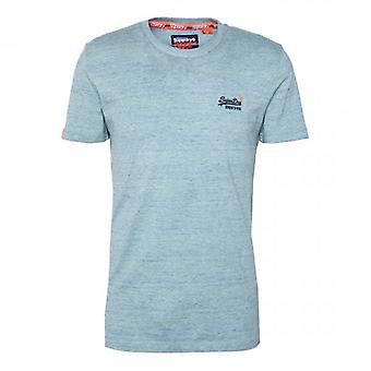 Superdry OL Vintage Brodé T-Shirt Desert Sky Blue Grit Z7Z