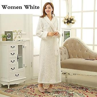 Thick Warm Winter Bathrobe Men Extra Long Dressing Gown Flannel Robes