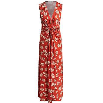 Oui Orange Floral Maxi Dress