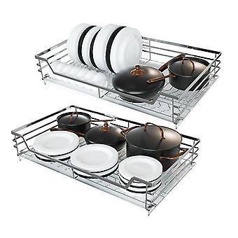 Basket Kitchen Cabinet Storage Drawer Type Cabinet Basket Rack Stainless Steel