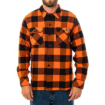 Camisa de hombre dickies sacramento relxed camisa de manga larga dk0a4x8nbgo