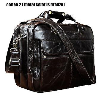 """Hombres de primera calidad real cuero antiguo estilo maletín negocio 15.6"""" cajas portátiles adjuntan cartera de bolsas de mensajería b1001"""