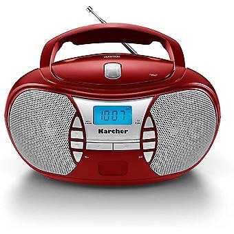 HanFei RR 5025-R tragbares CD Radio (CD-Player, Boomboxen, UKW Radio, Batterie/Netzbetrieb, AUX-In)