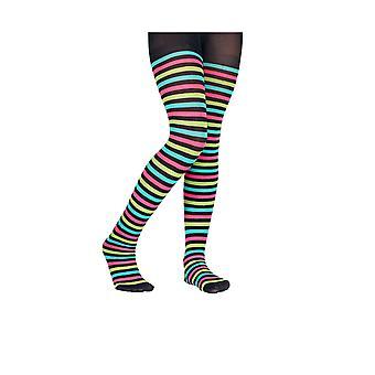 Collants à rayures multicolores enfant