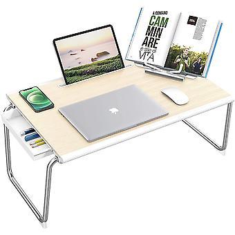 Wokex Laptop Betttisch, Faltbarer Laptop Tisch Klapptisch Verstellbarer Lapdesk mit Schublade und
