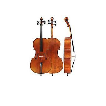 Cello maat 4/4 met koffer en strijkstok – Natuurlijke finish