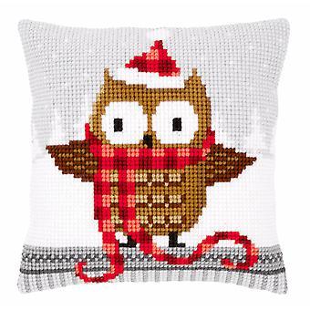 Vervaco Cross Stitch Kit: Coussin: Hibou à Santa Hat