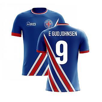 2020-2021 Iceland Airo Concept Home Shirt (E Gudjohnsen 9)