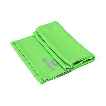 Neck Gaiter Face Cover Bandanas Towel Dual Layer Green