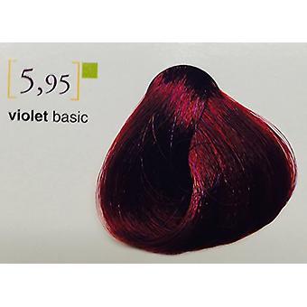 SALERM Tinnte EN sin AMONIACO 100ML, Väri sävy ammoniakkiton kerma 100 ML Unisex-Aikuinen, 5.95 Violetti Basic, Yksin
