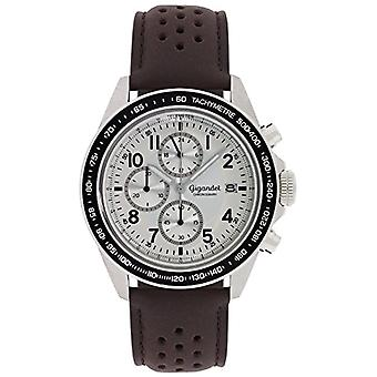 Gigandet Racetrack Reloj para hombres Cronógrafo analógico Cuarzo Marrón Plata G24-008