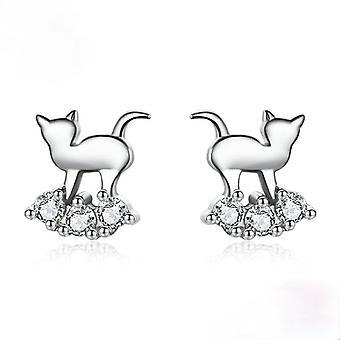 Örhängen kattunge s925 sterling silver örhängen