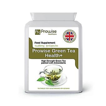 Green Tea 12,480mg 90 Capsules | Suitable For Vegetarians & Vegans | Made In UK by Prowise