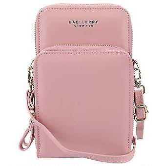 Uusi Mini Naiset Messenger Laatu Puhelin Tasku Naisten Laukut Muoti Pienet Laukut Tyttö (Vaaleanpunainen)