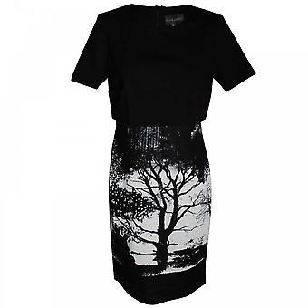 Frank manches courtes arbre Print Dress Lyman féminin