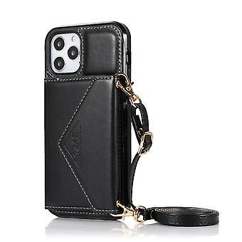 lær lommebok tilfelle for samsung a42 5g svart pns-2862