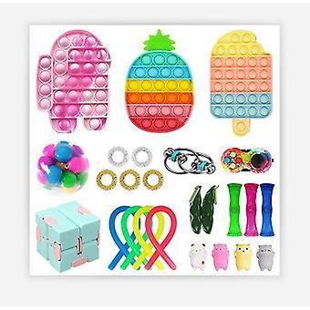 Sensory fidget toys set bubble pop stress relief   for kids adults jy2