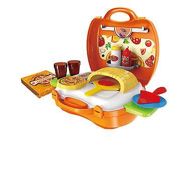 22PCsキッズキッチン料理キットのおもちゃは、ピザセットの子供の贈り物をプレイふりをします
