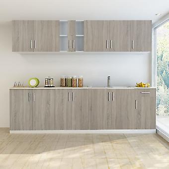 vidaXL kitchenette avec étuve 8- 2. Un look de chêne