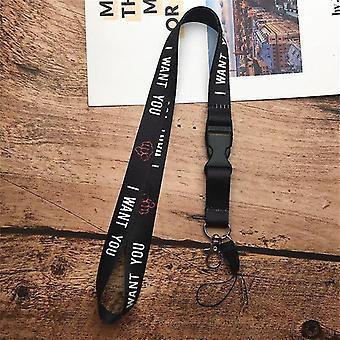 2 In 1 Mobile Phone Lanyard Key Ring Sling Badge Neckband