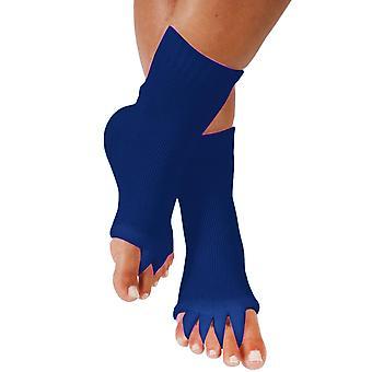 יוגה כחולה פתוחה גרביים בוהן חמש אצבעות מפריד יישור הרגל גרביים cai1058