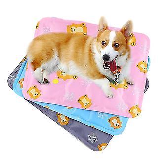 ミディアムピンクの夏の猫マットマットは、一口耐性犬小屋アイスマットx498です