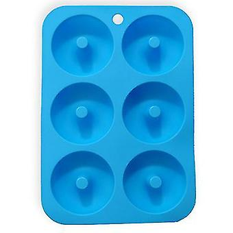 Blue silicone donut mold for 6 full-size donutsbagels and more x7440