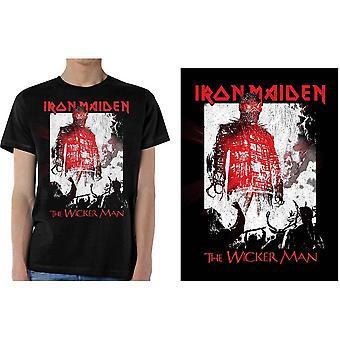 Iron Maiden - The Wicker Man Smoke Men's Small T-Shirt - Noir
